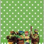 Tag Agradecimento Tartarugas Ninjas: