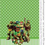 Rótulo Bala de Goma Gomets Tartarugas Ninjas: