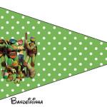 Bandeirinha Tartarugas Ninjas: