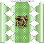 Caixa de Bala Tartarugas Ninjas: