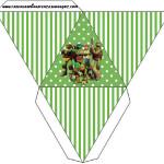 Caixa Pirâmide Tartarugas Ninjas:
