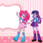 Convite Ingresso Equestria Girls (My Little Pony):