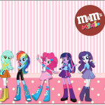 Rótulo Mini M&M Equestria Girls (My Little Pony):