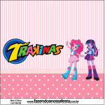 Rótulo Mini Trakinas  Equestria Girls (My Little Pony):