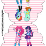 Convite Cupcake  Equestria Girls (My Little Pony):