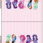 Cartão Agradecimento de Mesa  Equestria Girls (My Little Pony):