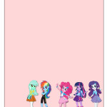 Convite  Equestria Girls (My Little Pony):