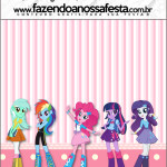 Molde Quadrado  Equestria Girls (My Little Pony):