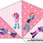 Cone Guloseimas 4 lados  Equestria Girls (My Little Pony):