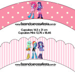 Saias Wrappers para Cupcakes  Equestria Girls (My Little Pony):