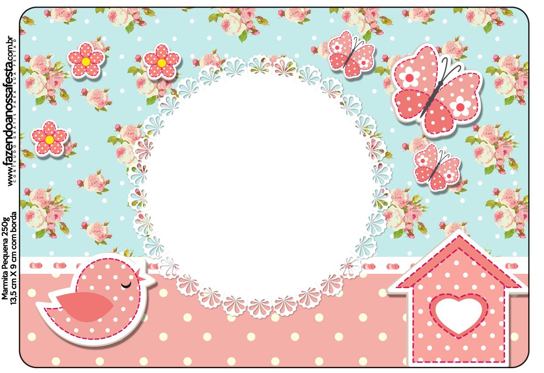 ideias para aniversario jardim encantado:Jardim Encantado Vintage Floral – Kit Completo com molduras para