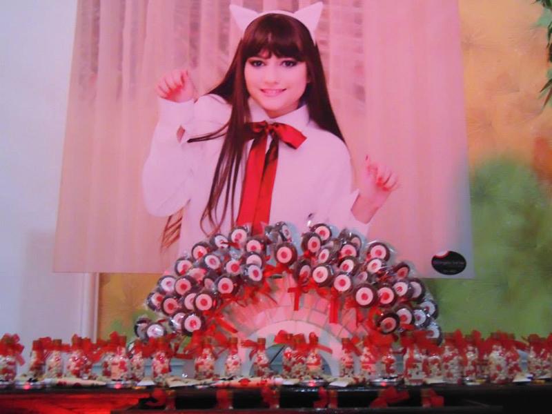 Mesa de Doces Festa Oriental 15 anos: