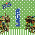 Rótulo Bis Duplo Tartarugas Ninjas: