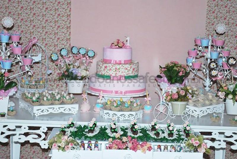enfeites para festa infantil tema jardim : enfeites para festa infantil tema jardim:Festa tema Jardim de Flores Rosa e Azul: