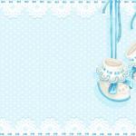 Sapatinho de Bebê Menino (Chá de Bebê) – Kit Completo com molduras para convites, rótulos para guloseimas, lembrancinhas e imagens!