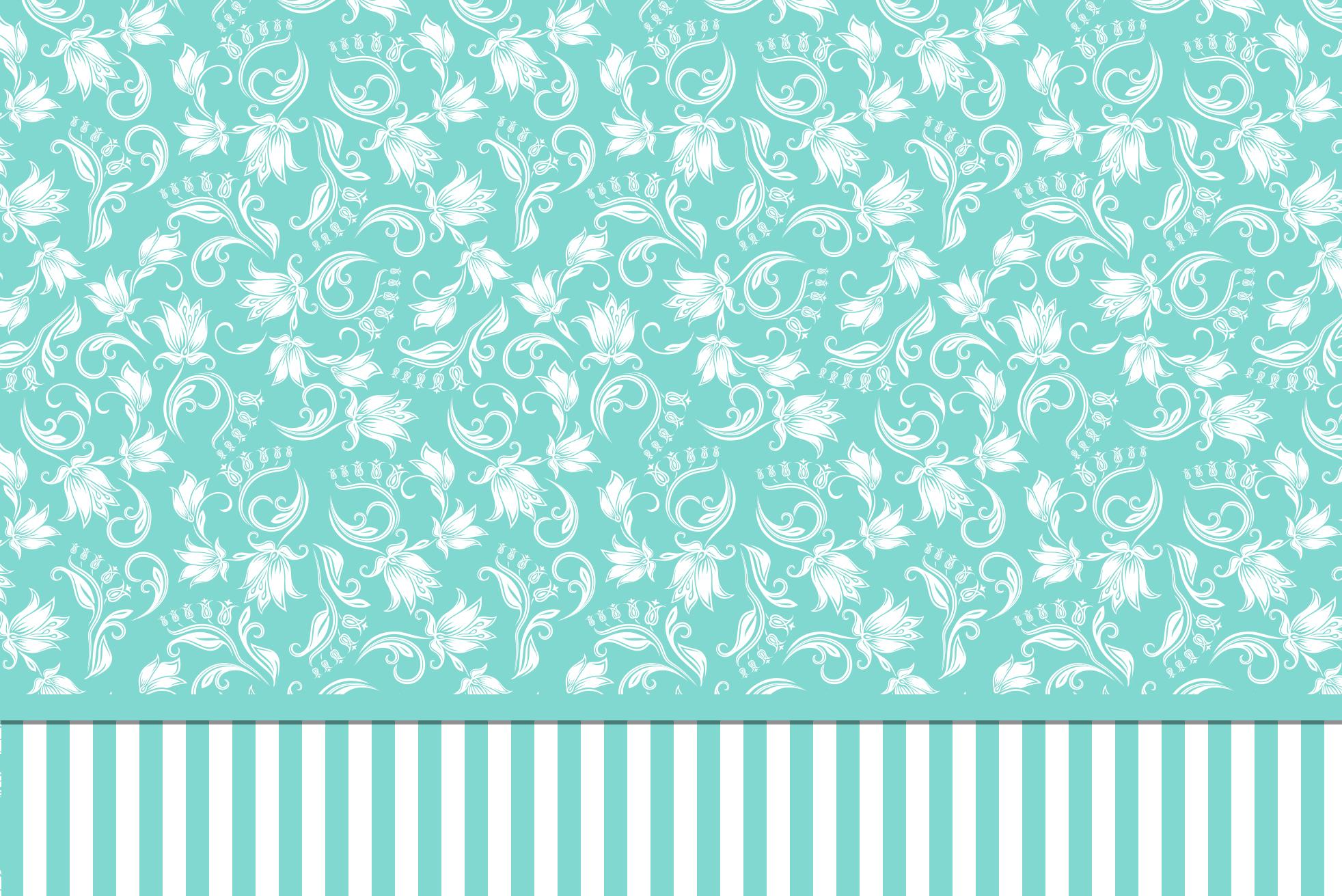 Convite e Cartão Azul Tiffany: