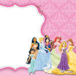 Princesas da Disney – Kit Completo Digital com molduras para convites, rótulos para guloseimas, lembrancinhas e imagens!