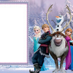 Moldura Convite e Cartão Frozen Disney - Uma Aventura Congelante: