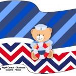 Bandeirinha Sanduiche 2 Ursinho Marinheiro