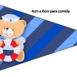 Bandeirinha Sanduiche 3 Ursinho Marinheiro