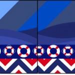 Bandeirinha Sanduiche Ursinho Marinheiro