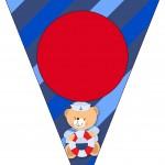 Bandeirinha Varalzinho Ursinho Marinheiro