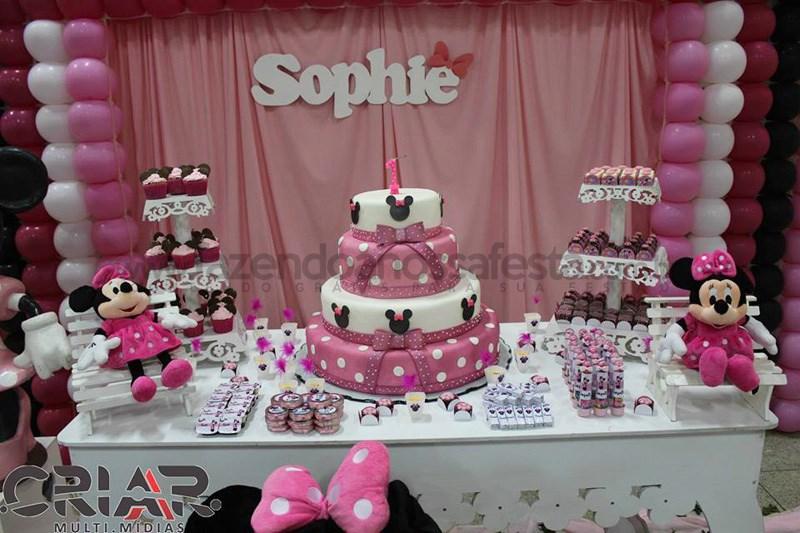 Festa Sophie Tema Minnie Mesa