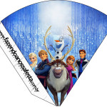 Cone Guloseimas Frozen Disney - Uma Aventura Congelante: