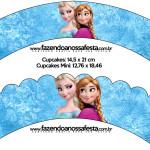 Saias Wrappers para Cupcakes Frozen Disney - Uma Aventura Congelante: