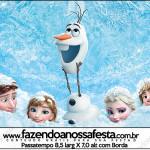 Rótulo Passatempo Frozen Disney - Uma Aventura Congelante: