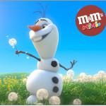 Rótulo Mini M&M Frozen Disney - Uma Aventura Congelante: