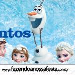 Rótulo Mentos Frozen Disney - Uma Aventura Congelante: