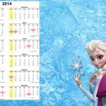 Convite Calendário 2014 Frozen Disney - Uma Aventura Congelante: