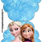 Convite Cupcake Frozen Disney - Uma Aventura Congelante: