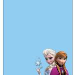 Convite com Envelope Frozen Disney - Uma Aventura Congelante: