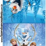 Convite Pirulito Frozen Disney - Uma Aventura Congelante: