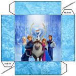 Convite Caixa Tampa Frozen Disney - Uma Aventura Congelante: