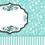 Kit Completo Azul Tiffany Floral e Listras! 4a4d8f3ffa