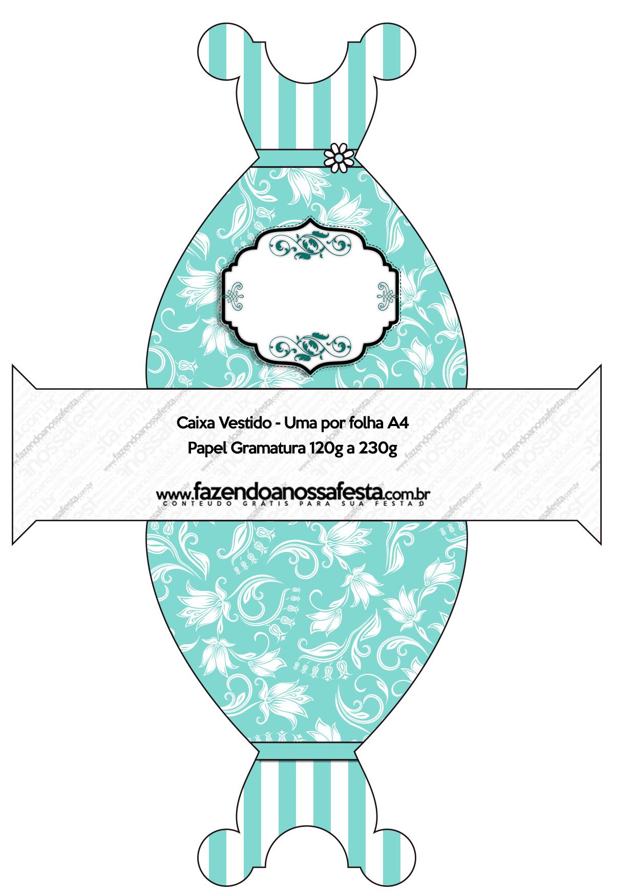 Kit Azul Tiffany Fazendo A Nossa Festa 58 Car Interior Design #319A90 1240 1744