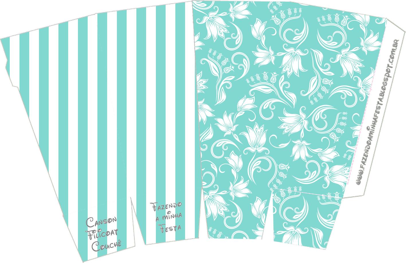 Kit Azul Tiffany Fazendo A Nossa Festa 69 Car Interior Design #309B91 1417 921