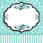 Azul Tiffany Floral e Listras –  Kit Completo com molduras para convites, rótulos para guloseimas, lembrancinhas e imagens!