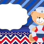 Ursinho Marinheiro Convite – Kit Completo