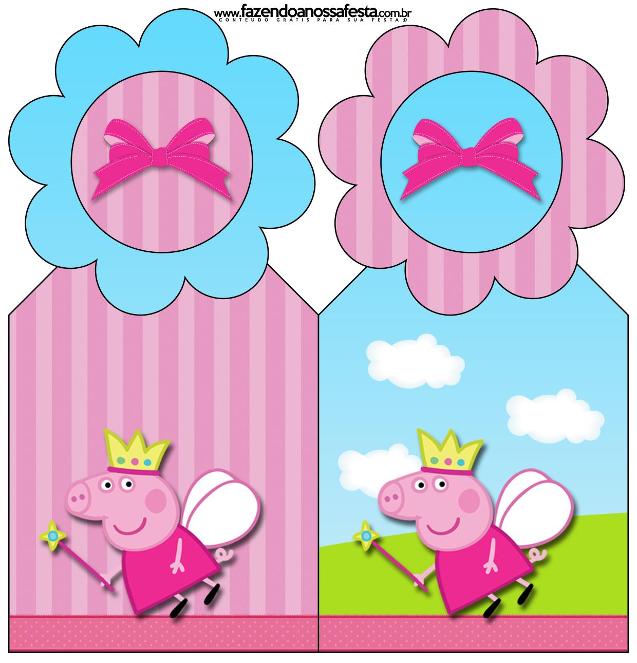 ... festa infantil Peppa Pig Princesa – Kit Completo Digital com molduras  para convites, rótulos para guloseimas,
