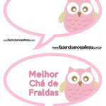 Plaquinhas Divertida Chá de Bebê ou Chá de Fraldas Meninas: