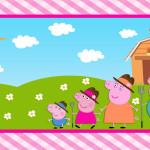 Peppa Pig na Fazenda – Kit Completo Digital com molduras para convites, rótulos para guloseimas, lembrancinhas e imagens!
