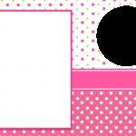 Poá Rosa e Verde – Kit Completo Digital com molduras para convites, rótulos para guloseimas, lembrancinhas e imagens!