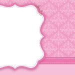 Rosa Arabesco – Kit Completo Digital com molduras para convites, rótulos para guloseimas, lembrancinhas e imagens!