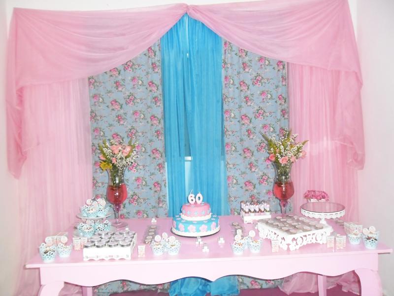 ideias para tema jardim: para comemorar o aniversário de sua Mãe Nina que completava 60 anos