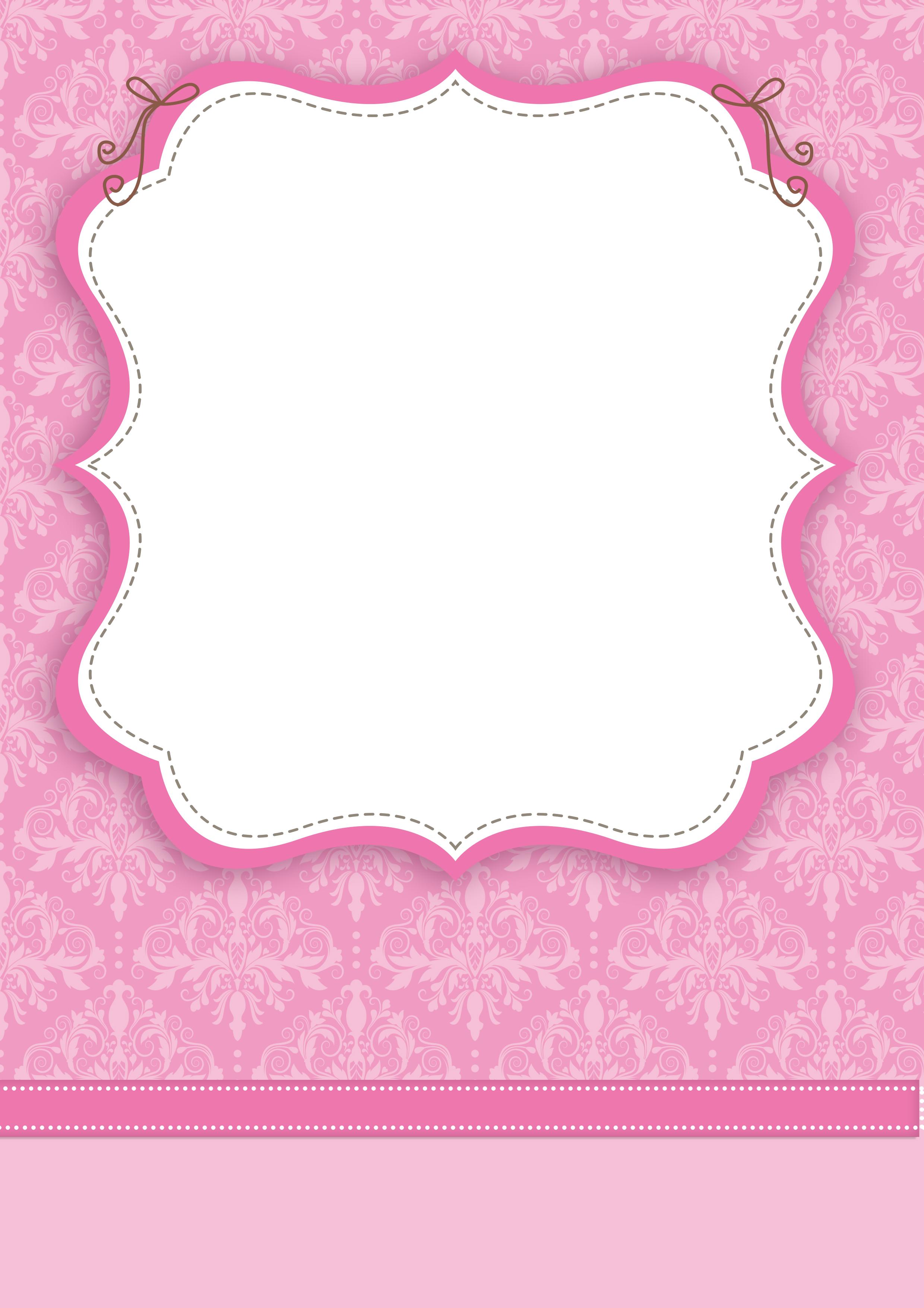 arabesco convite moldura e cartão rosa arabesco convite moldura e