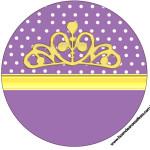 Rótulos para: Latinha,Gelatina,Tampinhas,Adesivos,Marmita Redonda e Toppers Cupcakes  Princesinha Sofia da Disney: